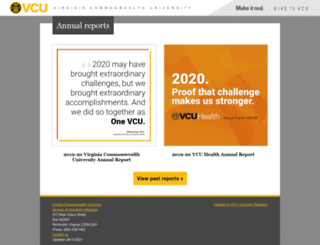 annualreports.vcu.edu screenshot