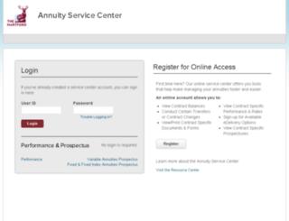 annuities.thehartford.com screenshot