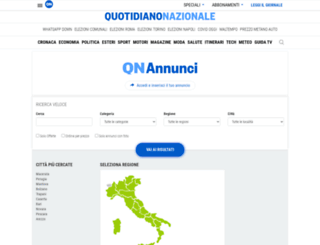 annunci.quotidiano.net screenshot