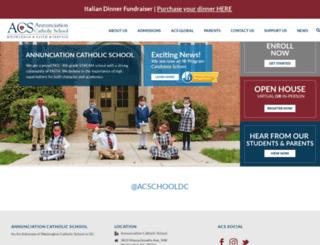 annunciationschool.net screenshot