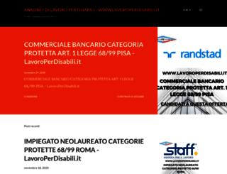 annuncidilavoroperdisabili.blogspot.it screenshot