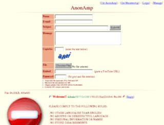 anonamp.net screenshot