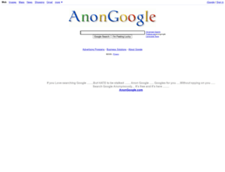 anongoogle.com screenshot