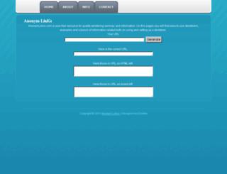 anonimlinks.com screenshot