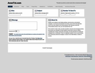 anontxt.com screenshot
