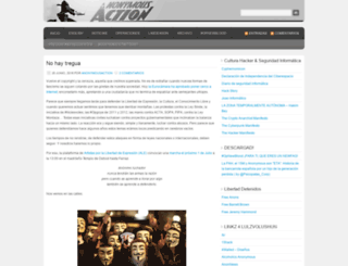 anonymousaction.wordpress.com screenshot