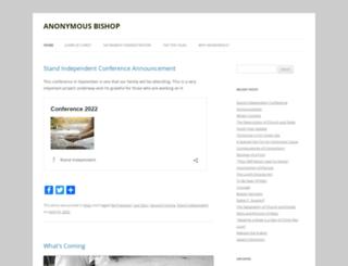 anonymousbishop.com screenshot