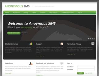 anonymoussms.ca screenshot