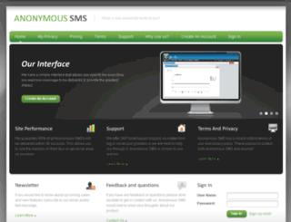anonymoussms.com.au screenshot