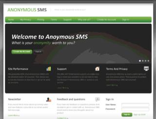 anonymoussms.us screenshot