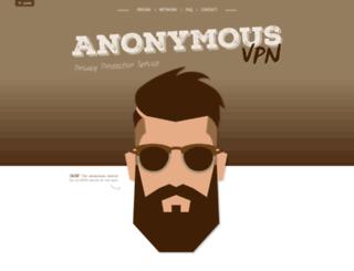 anonymousvpn.org screenshot