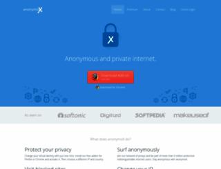 anonymox.net screenshot