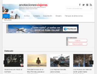 anotacionesviajeras.com screenshot