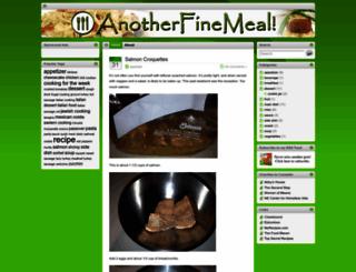 anotherfinemeal.com screenshot