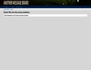 anothermessageboard.com screenshot