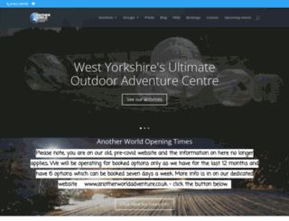 anotherworldadventurecentre.co.uk screenshot