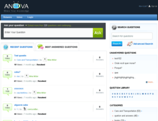 anova.demo.agriya.com screenshot