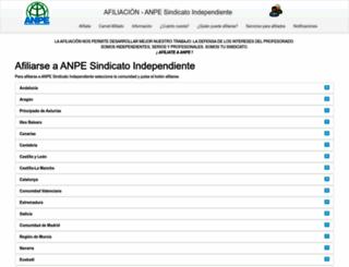 anpesindicato.org screenshot