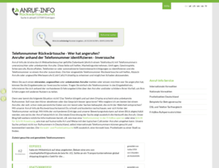 anruf-info.de screenshot