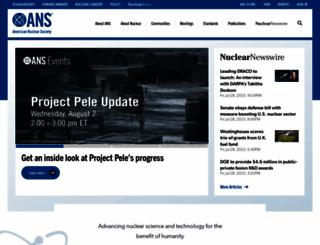 ans.org screenshot