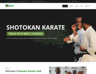 ansaarkarate.com screenshot