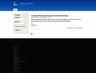 ansarportsaid.net screenshot