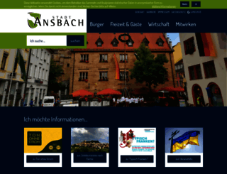 ansbach.de screenshot