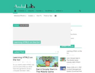 anshullabs.com screenshot