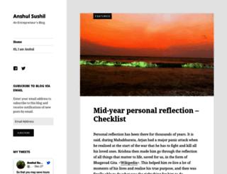 anshulsushil.com screenshot