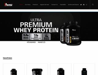 ansinutrition.com screenshot