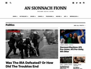 ansionnachfionn.com screenshot