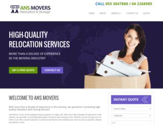 ansmovers.com screenshot