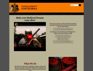 ansteorra.org screenshot