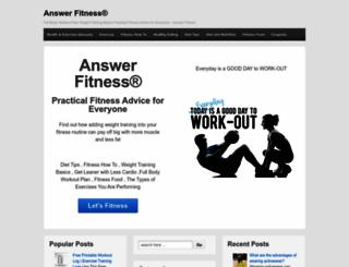 answerfitness.com screenshot
