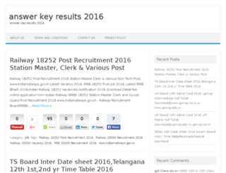 answerkeyresults2016.in screenshot
