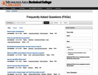 answers.matc.edu screenshot