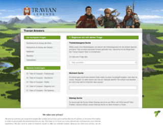 answers.travian.de screenshot