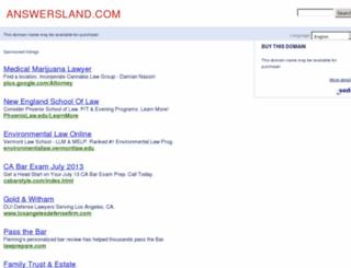 answersland.com screenshot