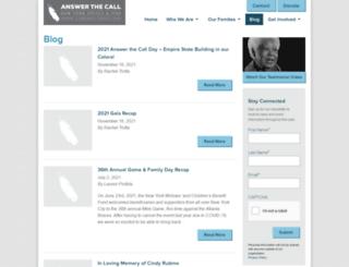 answerthecallblog.org screenshot