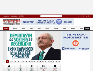 antalyaguncel.com screenshot