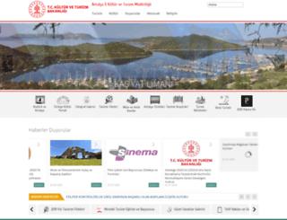 antalyakulturturizm.gov.tr screenshot