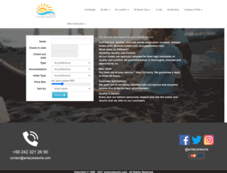 antalyaresorts.com screenshot