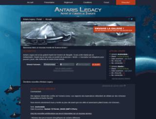 antaris-legacy.com screenshot