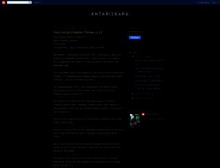antariskara-antariskara.blogspot.nl screenshot