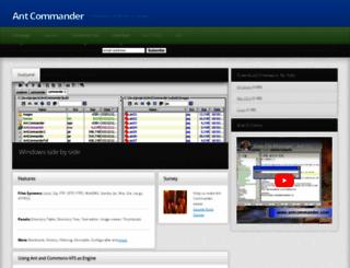 antcommander.com screenshot