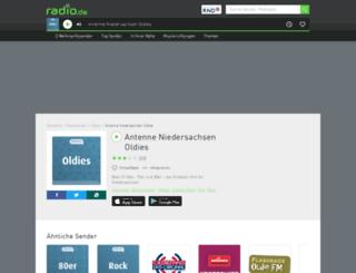 antenneniedersachsenoldies.radio.de screenshot