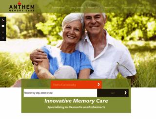 anthemmemorycare.com screenshot