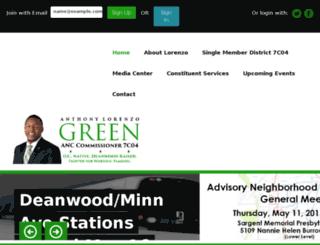 anthonylorenzogreen.nationbuilder.com screenshot