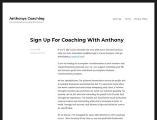 anthonyscoaching.com screenshot