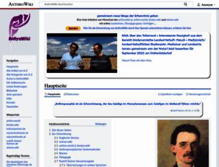 anthrowiki.at screenshot